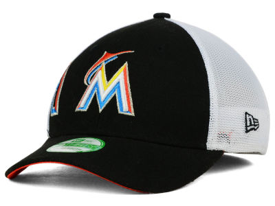 Miami Marlins New Era MLB Kids Double Mesh 39THIRTY Cap