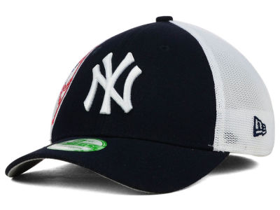 New York Yankees New Era MLB Kids Double Mesh 39THIRTY Cap