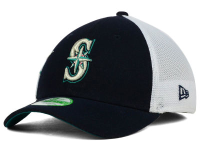 Seattle Mariners New Era MLB Kids Double Mesh 39THIRTY Cap