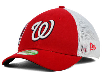 Washington Nationals New Era MLB Kids Double Mesh 39THIRTY Cap