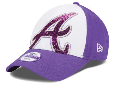 Atlanta Braves New Era MLB Kids Over Glittered 9FORTY Cap