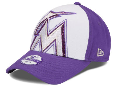 Miami Marlins New Era MLB Kids Over Glittered 9FORTY Cap