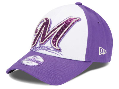 Milwaukee Brewers New Era MLB Kids Over Glittered 9FORTY Cap