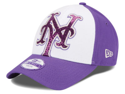 New York Mets New Era MLB Kids Over Glittered 9FORTY Cap