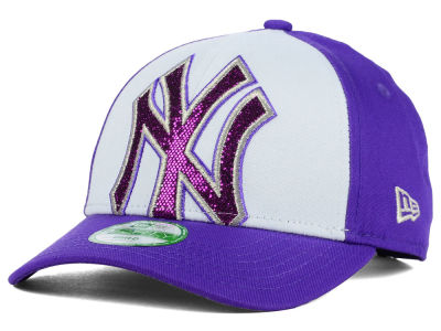 New York Yankees New Era MLB Kids Over Glittered 9FORTY Cap