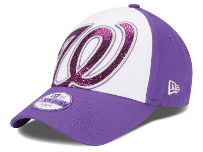 Washington Nationals New Era MLB Kids Over Glittered 9FORTY Cap
