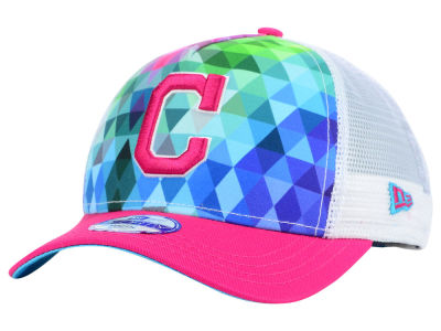 Cleveland Indians New Era MLB Youth Gem Trucker 9FORTY Cap