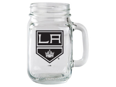 Los Angeles Kings Glass Mason Jar With Handle