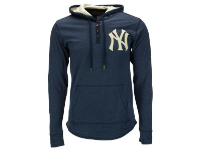 New York Yankees Mitchell and Ness MLB Men's Playoff Spot Hooded Long Sleeve T-Shirt