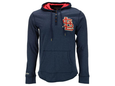 St. Louis Cardinals Mitchell and Ness MLB Men's Playoff Spot Hooded Long Sleeve T-Shirt