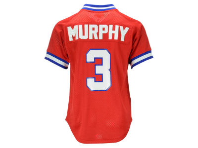 Atlanta Braves Dale Murphy Mitchell and Ness MLB Men's Authentic Mesh Batting Practice V-Neck Jersey