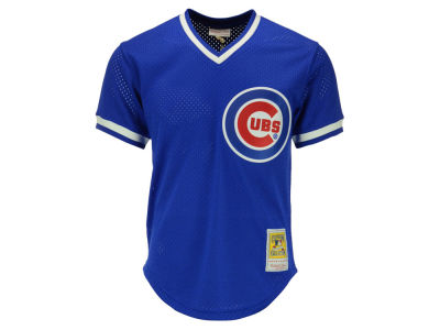 Chicago Cubs Ryne Sandberg Mitchell and Ness MLB Men's Authentic Mesh Batting Practice V-Neck Jersey