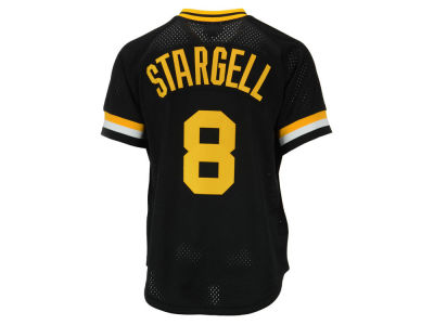 Pittsburgh Pirates Willie Stargell Mitchell & Ness MLB Men's Authentic Mesh Batting Practice V-Neck Jersey
