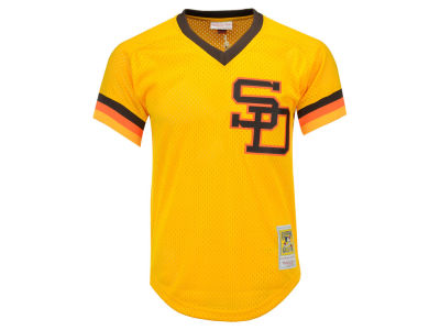 San Diego Padres Tony Gwynn Mitchell & Ness MLB Men's Authentic Mesh Batting Practice V-Neck Jersey