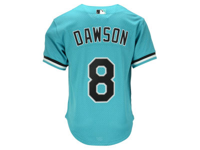 Miami Marlins Andre Dawson Mitchell & Ness MLB Men's Authentic Mesh Batting Practice V-Neck Jersey