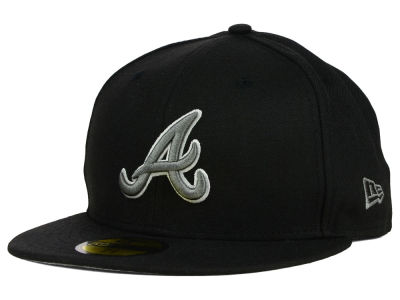 Atlanta Braves New Era MLB Black Graphite 59FIFTY Cap