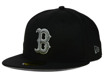 Boston Red Sox New Era MLB Black Graphite 59FIFTY Cap