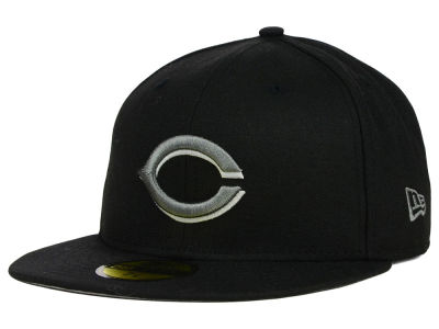 Cincinnati Reds New Era MLB Black Graphite 59FIFTY Cap