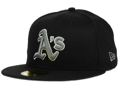 Oakland Athletics New Era MLB Black Graphite 59FIFTY Cap