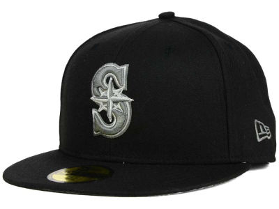 Seattle Mariners New Era MLB Black Graphite 59FIFTY Cap