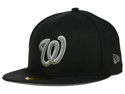 Washington Nationals New Era MLB Black Graphite 59FIFTY Cap