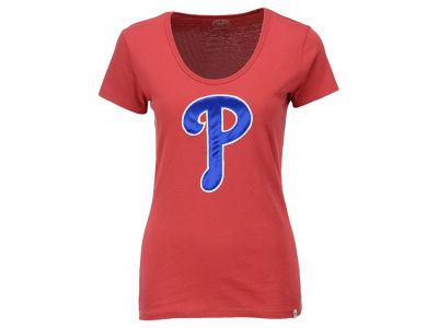Philadelphia Phillies '47 MLB Women's Satin Scoop T-Shirt
