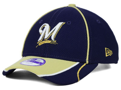 Milwaukee Brewers New Era MLB Junior Fan Wave Diamond Era 9FORTY Cap