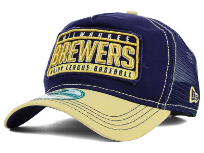 Milwaukee Brewers New Era MLB Trip Trucker 9FORTY Cap