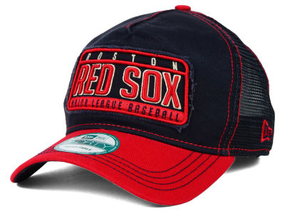 Boston Red Sox New Era MLB Trip Trucker 9FORTY Cap
