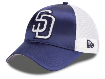 San Diego Padres New Era MLB Women's Satin 9FORTY Cap