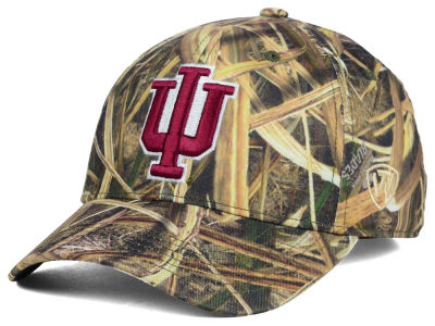 Indiana Hoosiers Top of the World NCAA Blades Camo Flex Hat
