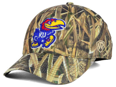 Kansas Jayhawks Top of the World NCAA Blades Camo Flex Hat