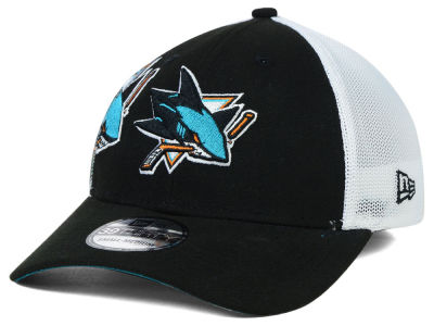 San Jose Sharks New Era NHL Double Mesh Flex 39THIRTY Cap