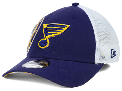 St. Louis Blues New Era NHL Double Mesh Flex 39THIRTY Cap