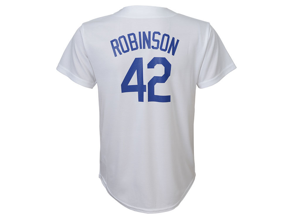 Brooklyn Dodgers Jackie Robinson Majestic MLB Youth Cooperstown Player  Jersey a953009ac63