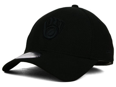 Milwaukee Brewers New Era MLB Black Diamond Era 39THIRTY Cap