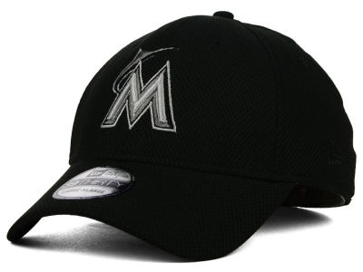 Miami Marlins New Era MLB Black Diamond Era 39THIRTY Cap