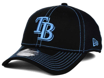 Tampa Bay Rays New Era MLB Black Team Neo 39THIRTY Cap
