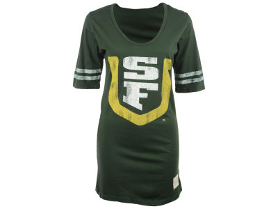 University of San Francisco Dons NCAA Womens Stripe Scoop T-Shirt