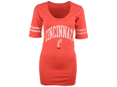 Cincinnati Bearcats NCAA Womens Stripe Scoop T-Shirt