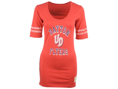 Dayton Flyers NCAA Womens Stripe Scoop T-Shirt