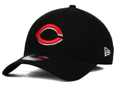 Cincinnati Reds New Era MLB Diamond Era Black 39THIRTY Cap
