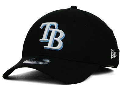 Tampa Bay Rays New Era MLB Diamond Era Black 39THIRTY Cap