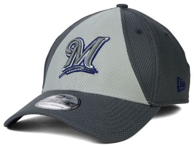 Milwaukee Brewers New Era MLB Diamond Era Double Play 39THIRTY Cap