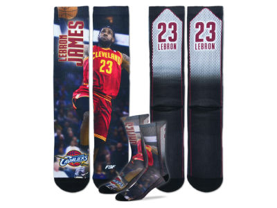 Cleveland Cavaliers LeBron James Player Mesh Crew Sock