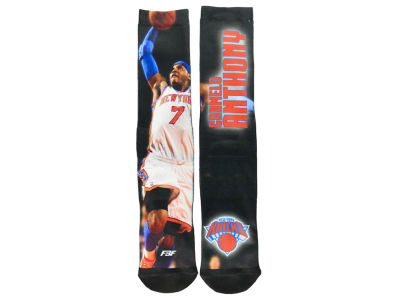 New York Knicks Carmelo Anthony Player Mesh Crew Sock