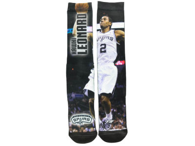 San Antonio Spurs Kawhi Leonard Player Mesh Crew Sock
