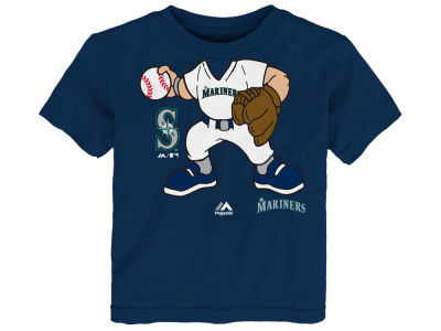 Seattle Mariners Majestic MLB Infant Pint-Sized Pitcher T-Shirt