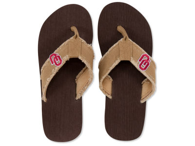 Oklahoma Sooners Frayed Flip Flop