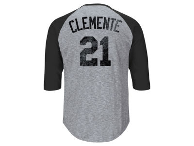 Pittsburgh Pirates Roberto Clemente MLB Men's Cooperstown Home Stretch Player Raglan Shirt